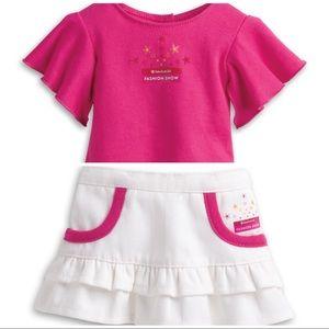 2013 American Girl fashion show shirt + skirt